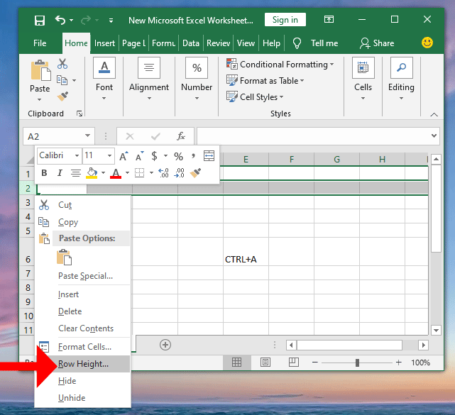 How To Change Row Height in Microsoft Excel