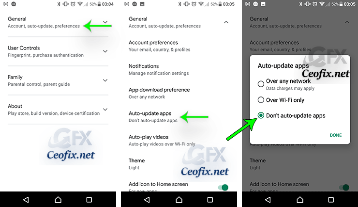 android Don't auto-update apps