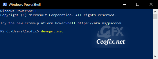 Open Device Manager from Power Shell