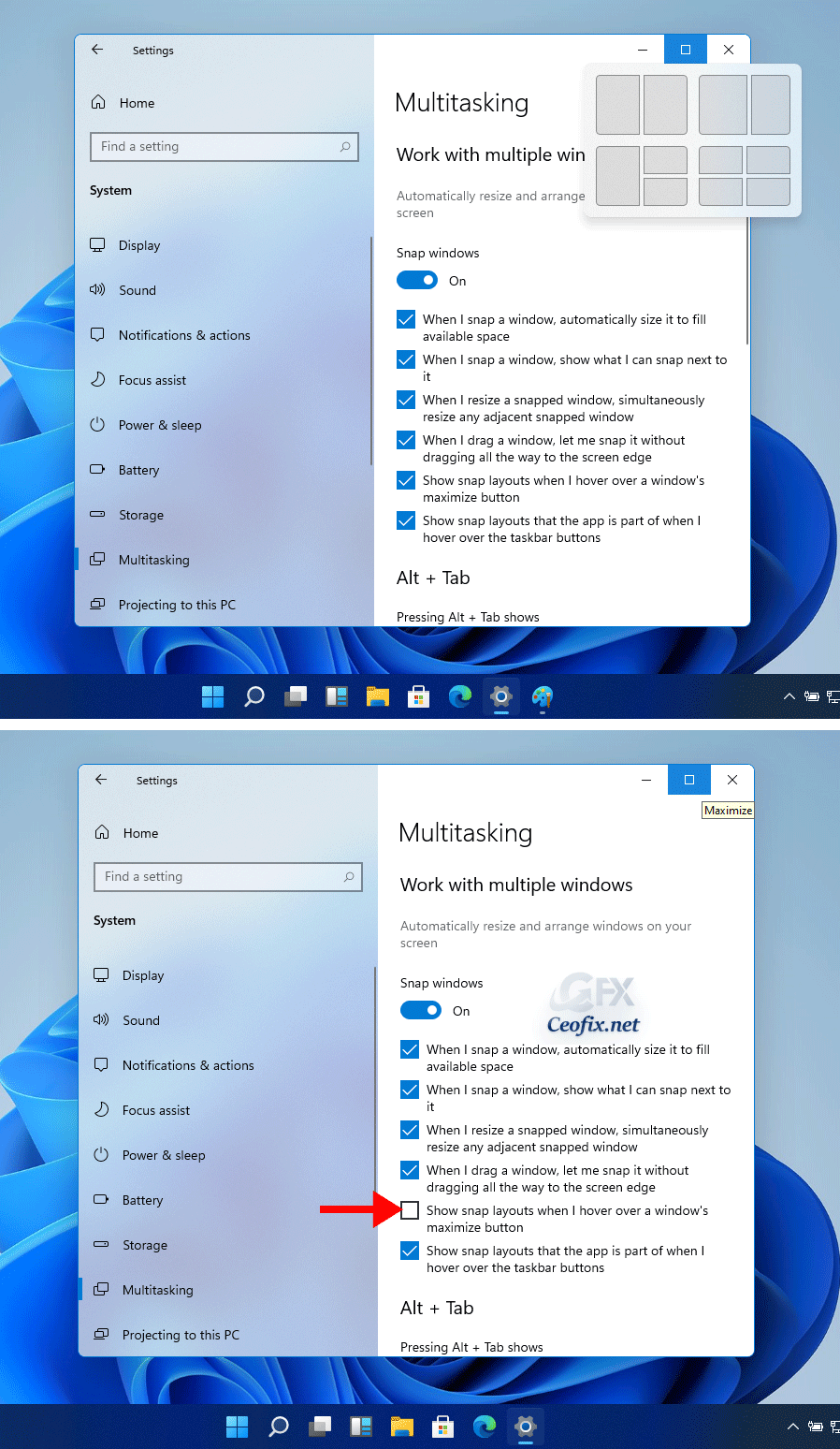 How to Disable Snap Layouts for Maximize Button in Windows 11