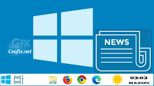 Enable Or Disable News and Interests Taskbar Widget