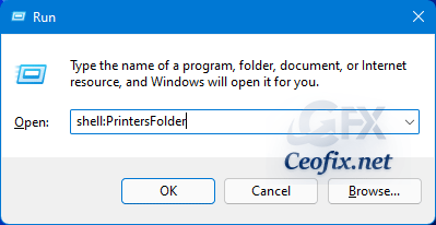 shell:PrintersFolder