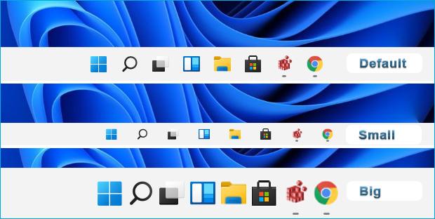 How To Change Windows 11 Taskbar And Icon Size