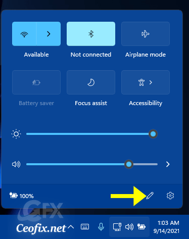 Customize Quick Action Shortcuts on Windows 11
