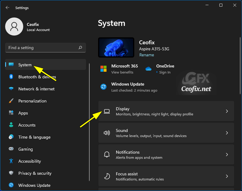 Change Screen Brightness With Quick Settings in Windows 11