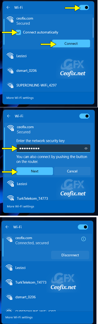 How do I connect my Windows 11 computer to Wi-Fi?