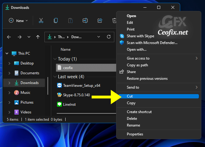 Using the Legacy Context Menu in Windows 11